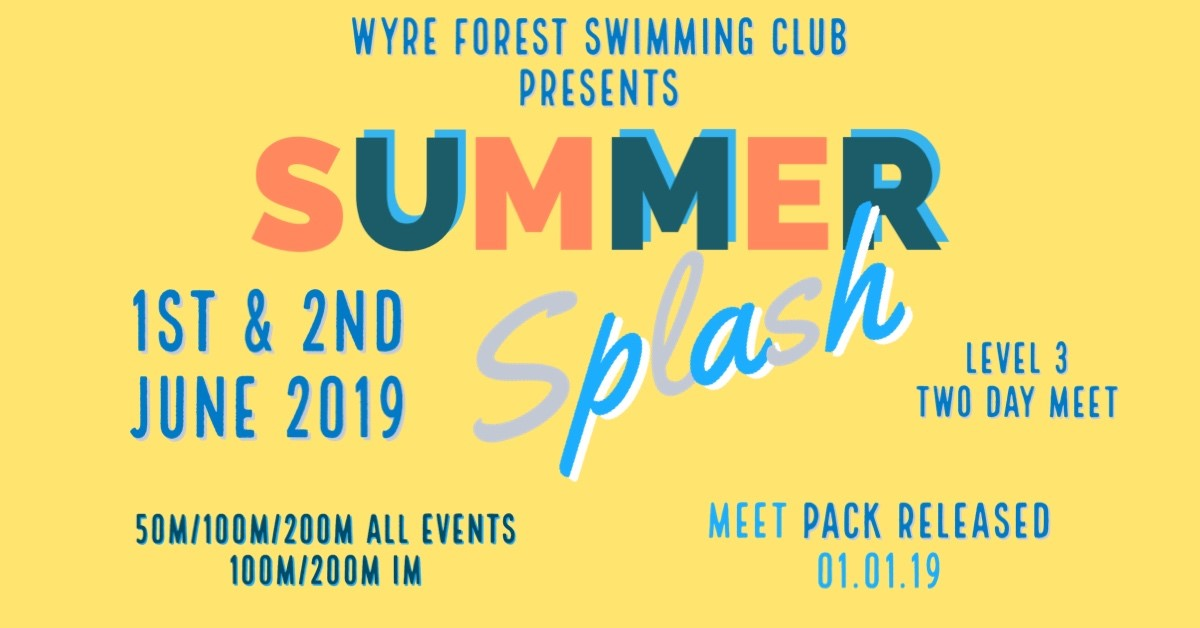 WYRE FOREST SWIMMING CLUB SUMMER SPLASH – HOLD THE DATE