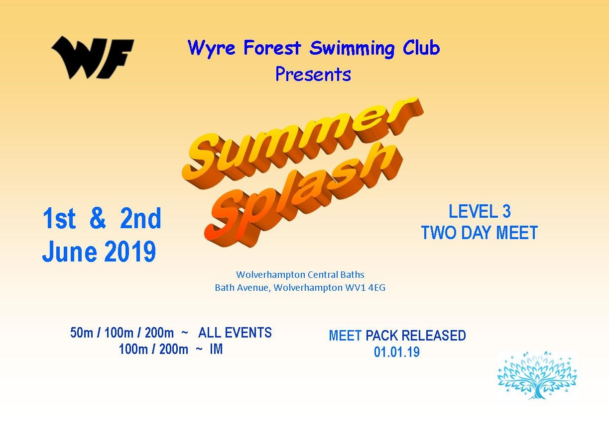 WYRE FOREST SWIMMING CLUB SUMMER SPLASH – DOWNLOAD THE MEET PACK & ENTRY FILE NOW