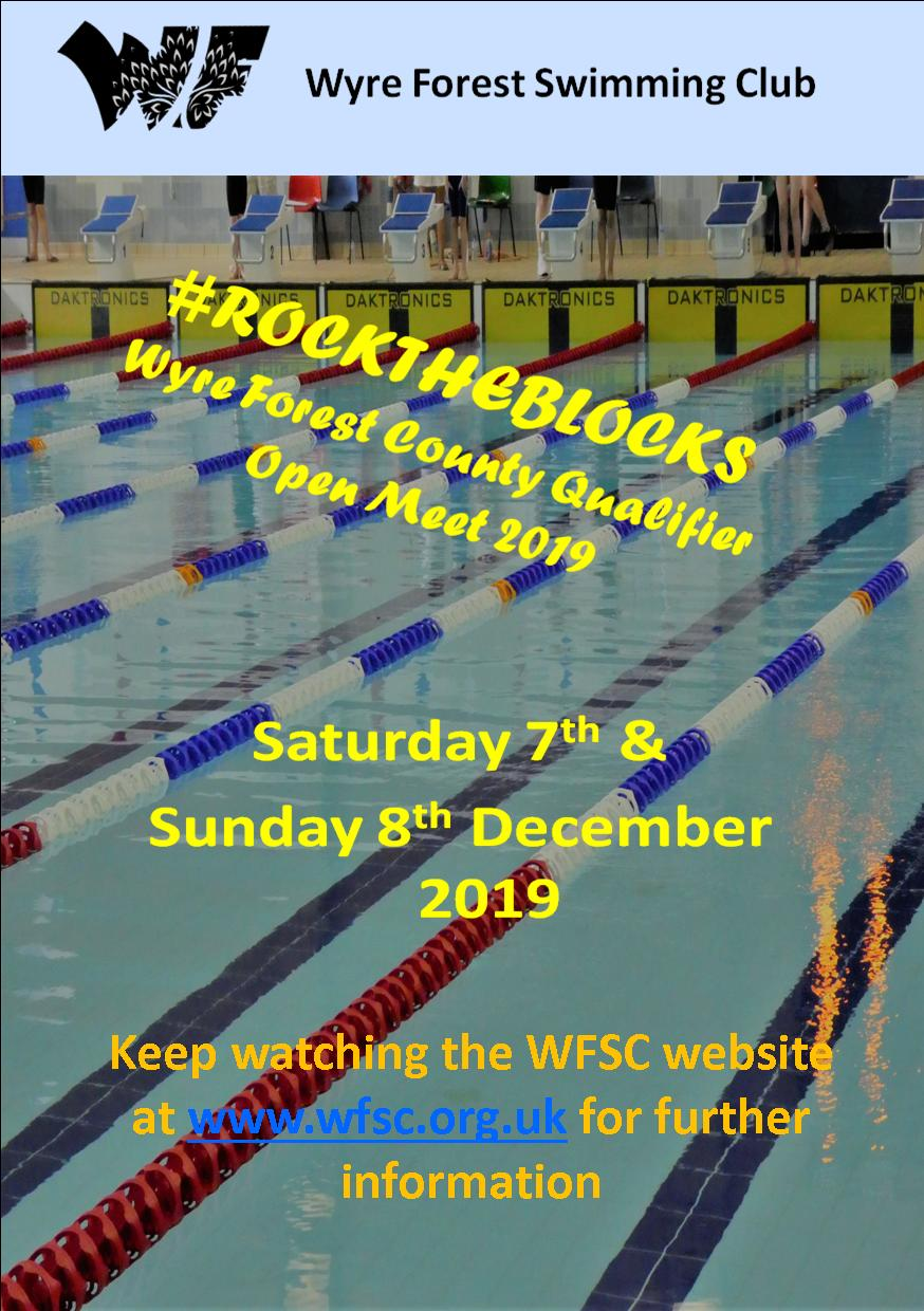 WFSC #ROCKTHEBLOCKS County Qualifier Meet – 7th & 8th DECEMBER 2019